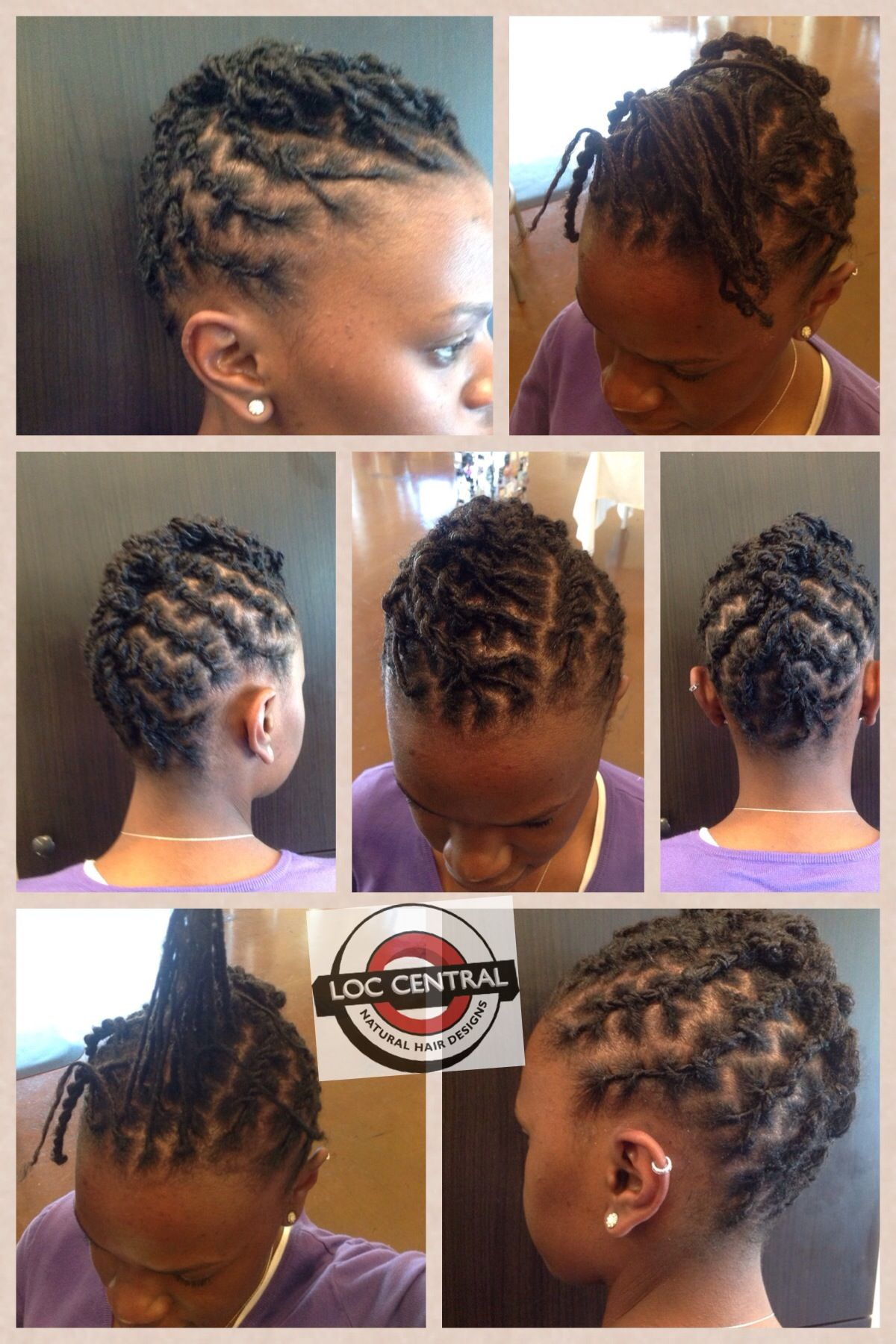 Loc Central Short Locs Hairstyles Locs Hairstyles Hair Styles