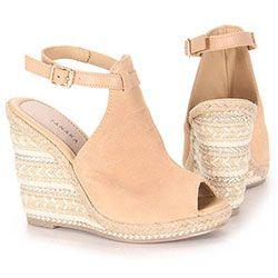 b6e85caae Sandália Anabela Espadrille Feminina Tanara - Nude | Sapatos | Shoe ...