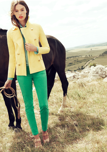green and yellow (jcrew look book)