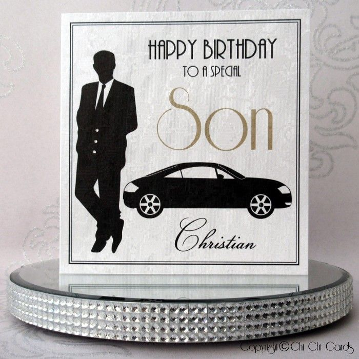 Luxurious Birthday Card Man With Car Luxury Birthday Cards Personalized Birthday Cards Birthday Cards For Men