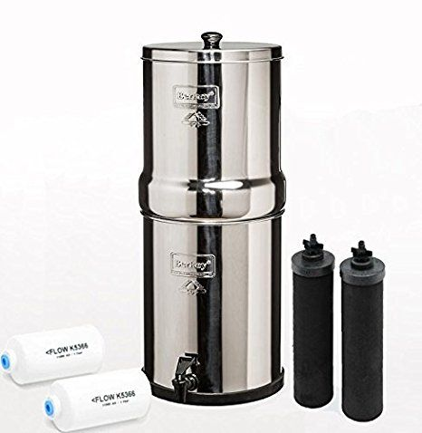 Big Berkey Bk4x2 Countertop Water Filter System With 2 Black