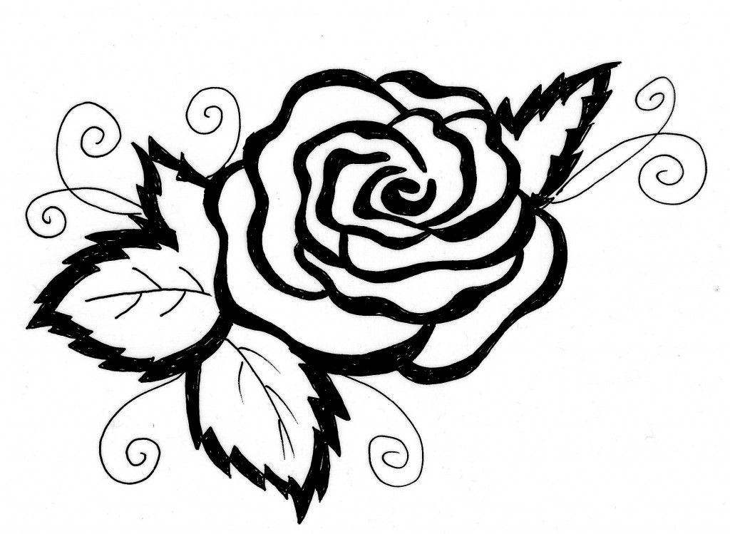 Ausmalen Malvorlagen Gratis Ausdrucken Rose Blumen Motive