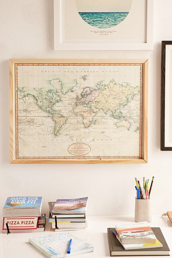 Adam shaw vintage world map 1801 art print architecture design adam shaw vintage world map 1801 art print gumiabroncs Gallery
