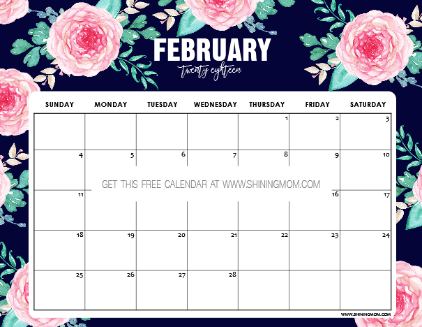 Calendar February 2019 Flowers February 2019 Calendar Wallpaper | 999+ Monthly Calendar Templates
