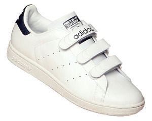 Adidas Women\u0027s Stan Smith Velcro in white and navy WOMENS size 7.5/MENS  size 5.5