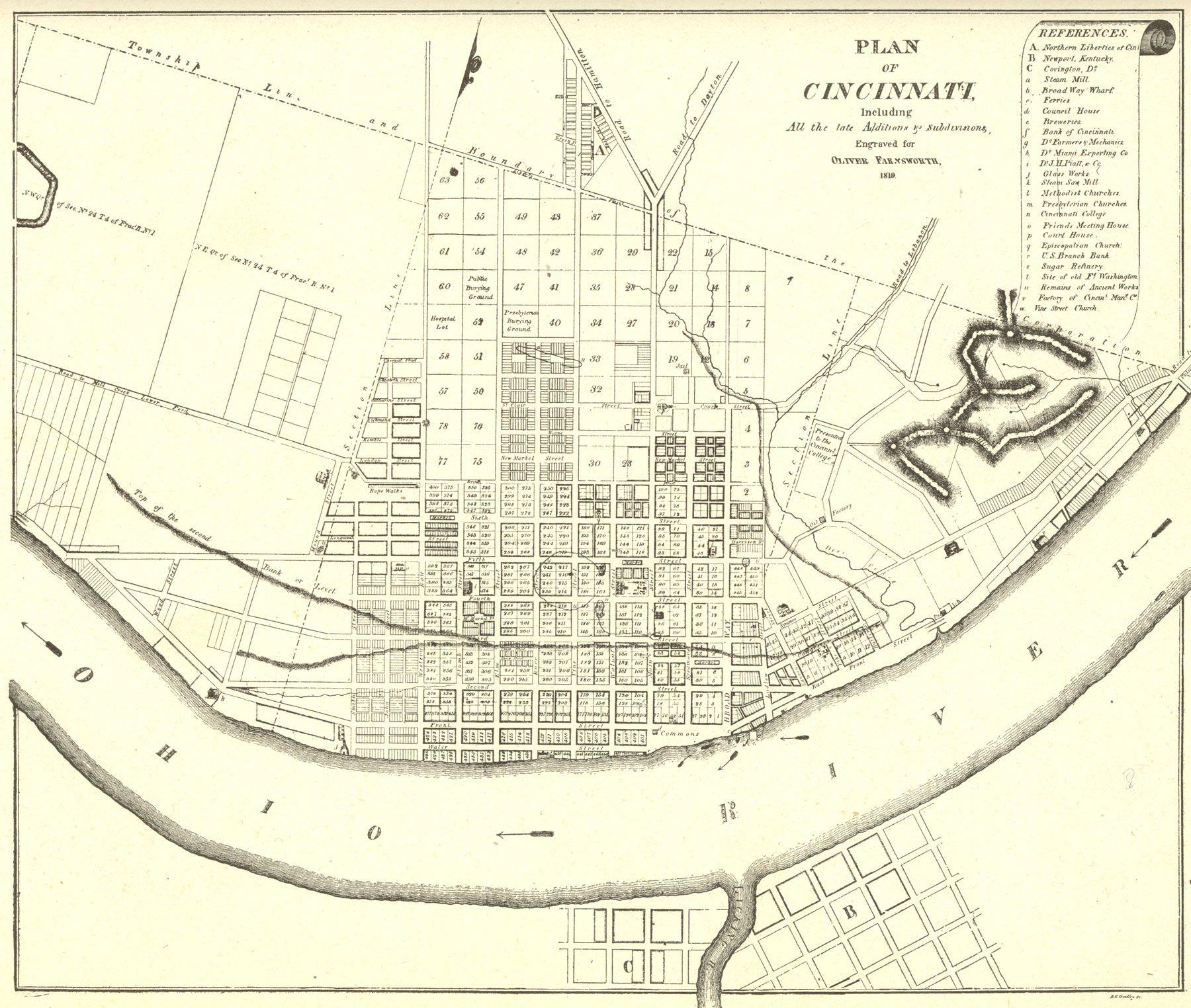 1819 The Year Cincinnati Became The City Of Cincinnati