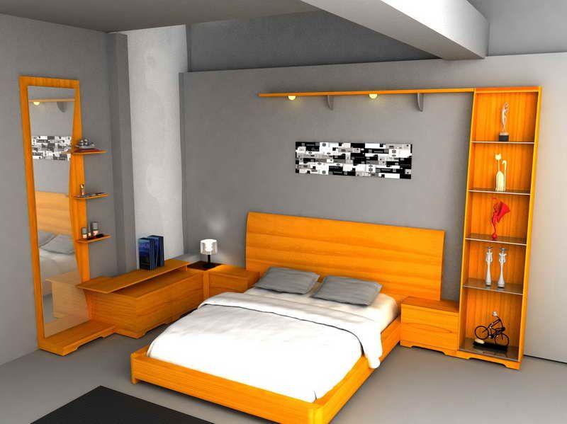 Orange Wooden Bedroom Design With Images Design Your Own