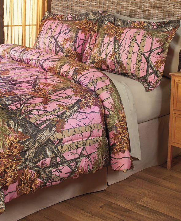 The Woods King Pink Camo 3 Piece Bedding Set Comforter And Sheets