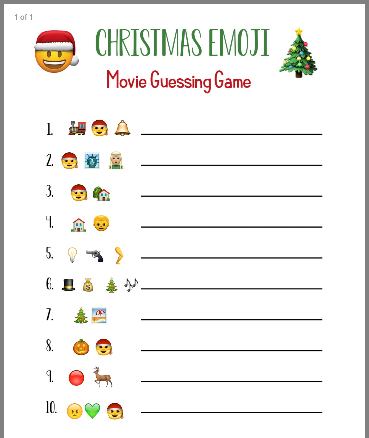 Pin By Linda Carson On Christmas Games Guessing Games For Kids Emoji Christmas Emoji Movie