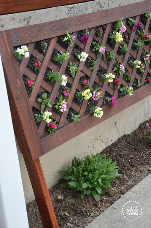 DIY Vertical Flower Bed | Vertical garden diy, Vertical ...