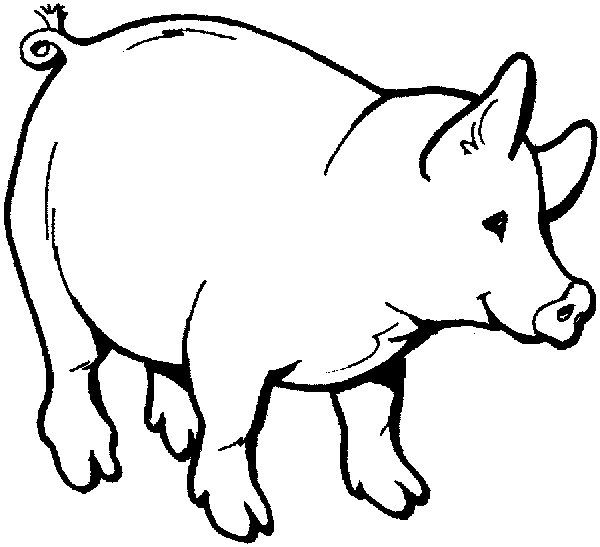 a pig with a goose on it's back clipart | lamb farm coloring ...