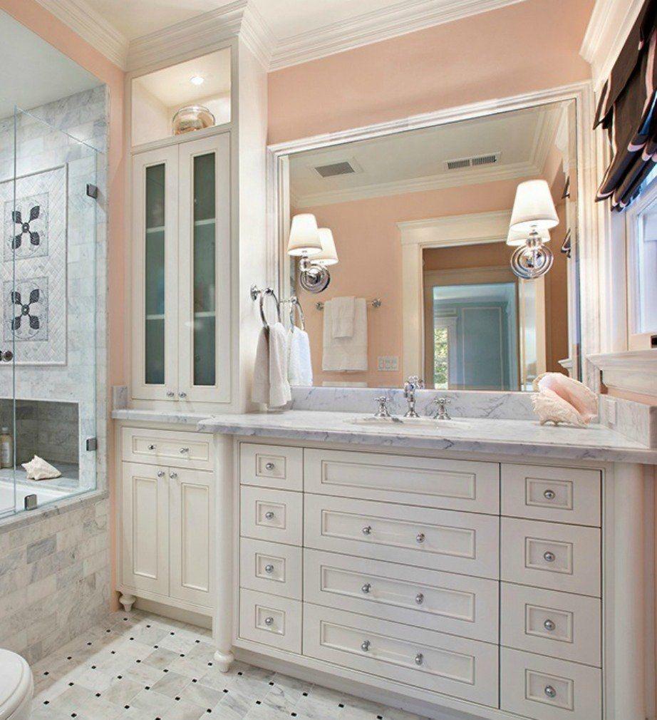 Gray And Peach Bathroom Ideas, Peach And Gray Bathroom Decor