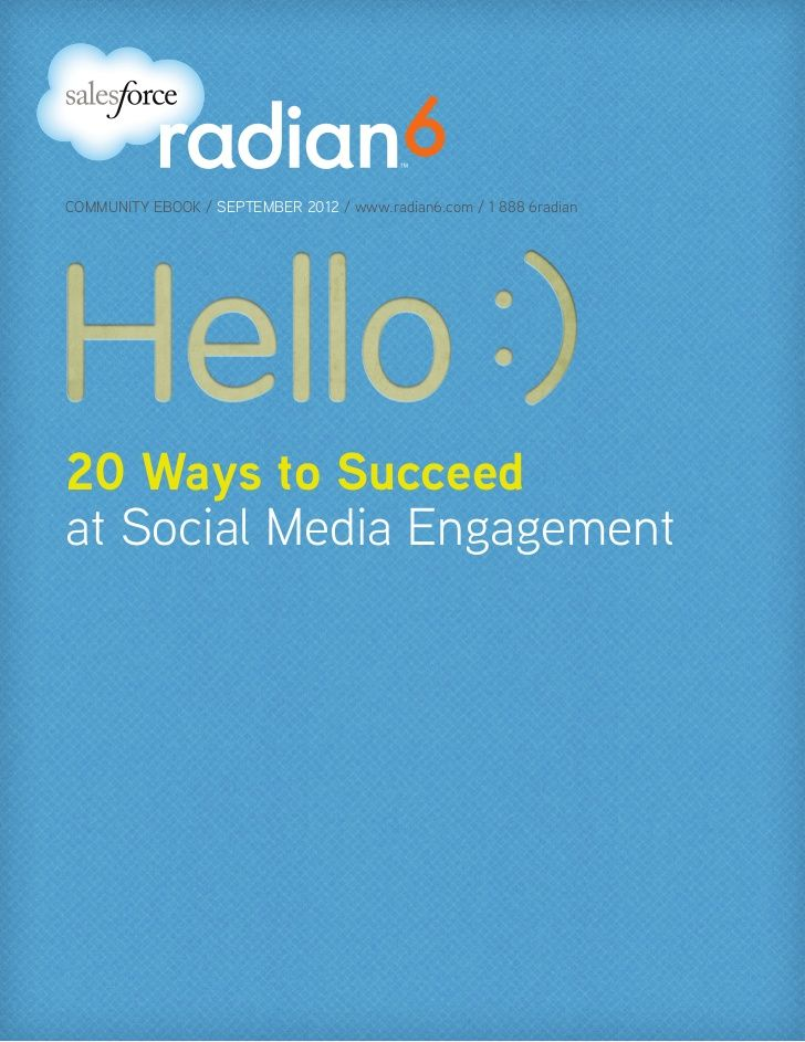 20 Ways To Succeed In Social Media Engagement By Salesforce