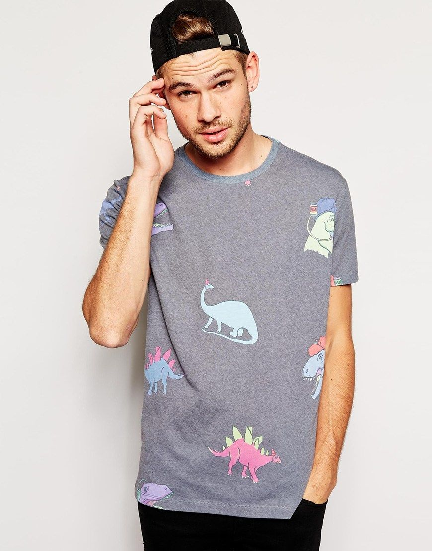 Image 1 of ASOS TShirt With All Over Dinosaur Print And