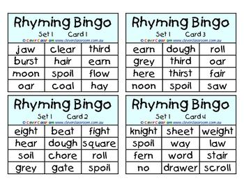 Rhyming   Word Work   Teaching poetry, Bingo games, Learning ...