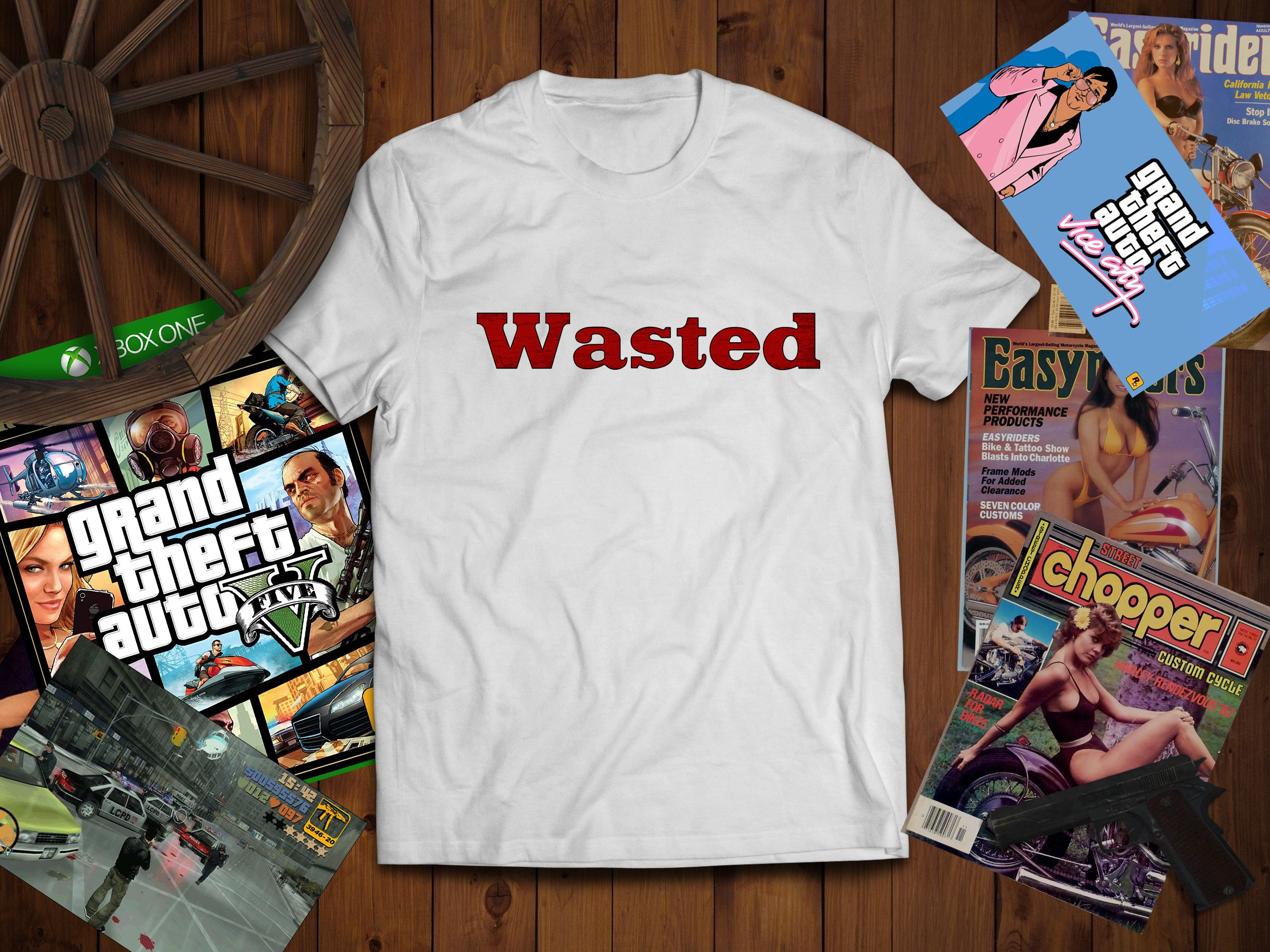 Wasted Grand Theft Auto T Shirt In 2020