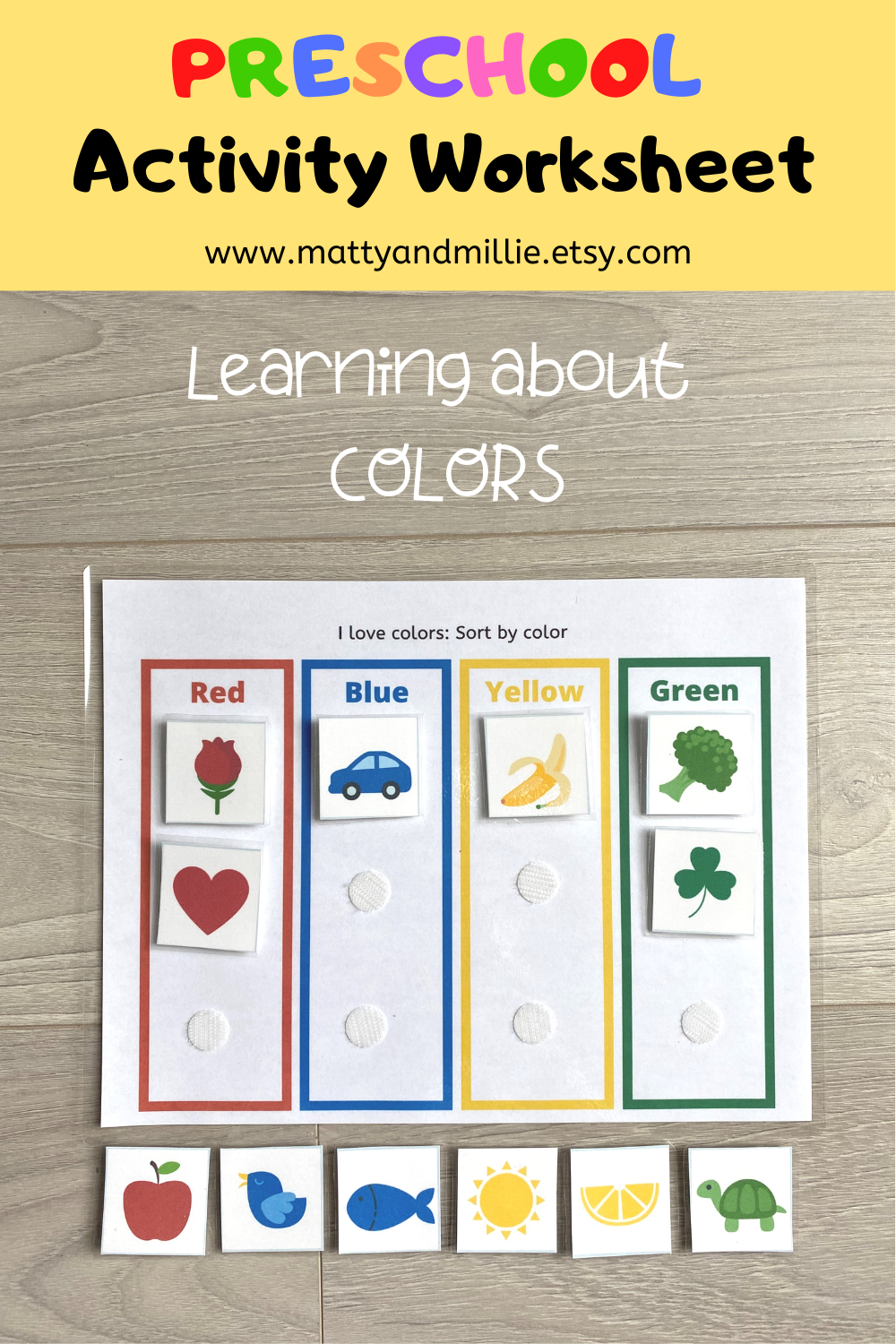 Sort By Color Worksheet Busy Book Pages Preschool Busy Book Sorting Activity File Folder Game Busy Binder Homeschool Worksheet Busy Book Homeschool Worksheets Color Worksheets [ 1500 x 1000 Pixel ]