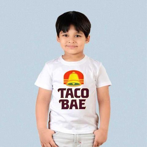 Kids Tshirt Funny Taco Bell Taco Bae Vintage Logo