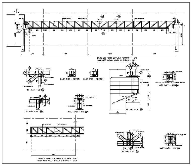 Truss Structure Details 7 Free Autocad Blocks Drawings Download Center Truss Structure Steel Structure Buildings Roof Truss Design