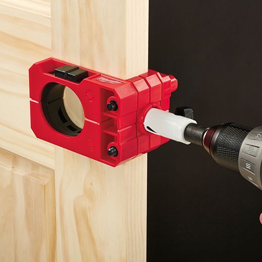 49 22 4073 A Door Lock Installation Kit Has Everything You Need To Bore Holes For Locksets And Deadb Door Lock Installation Kit Milwaukee Tools Carpentry Tools