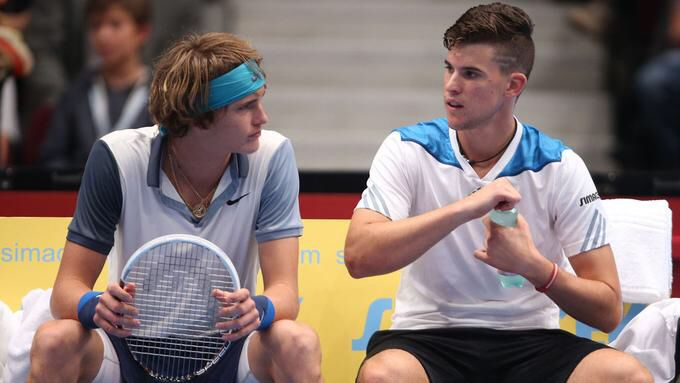 Love These Two Alexander Zverev Dominic Thiem Atp Tennis Pros Atp Tennis Alexander Zverev Tennis Players