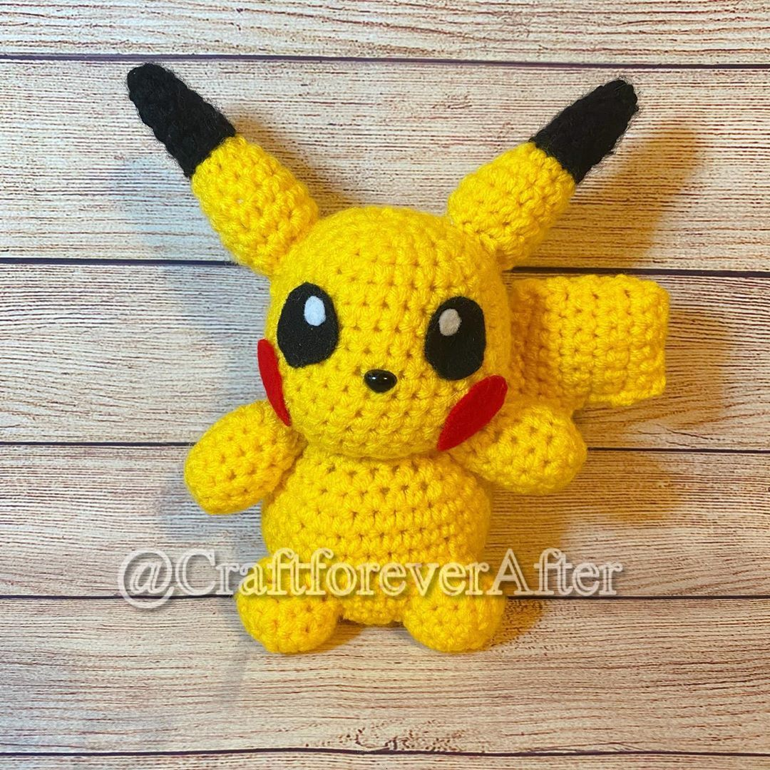 A wild pikachu appeared! 😍Chibi pikachu is now available on my Etsy shop! More starters coming soon! 😄🌱🔥💧 . . . . #pokemon #pokemongo #pikachu #chibi #plushie #plushiesofinstagram #cute #handmade #smallbusiness #etsy #pokemontrainer #crafts #pikapika #electricpokemon