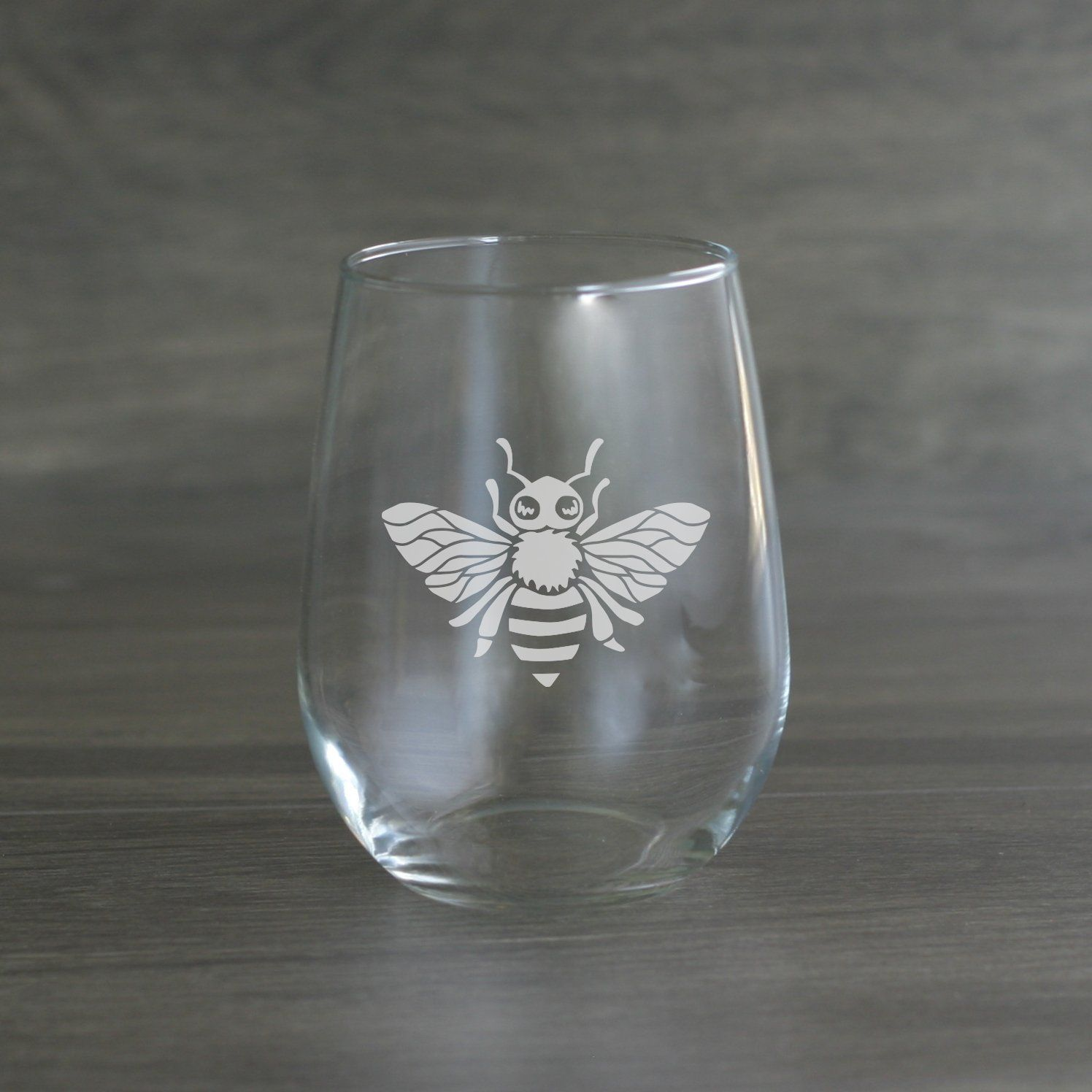 Bee Wine Glass (With images) | Stemless wine glass