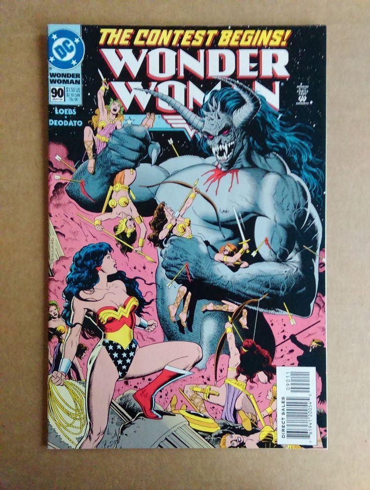 Wonder Woman 90 1994 1st Appearance Artemis Vf Nm 9 0 Wonder