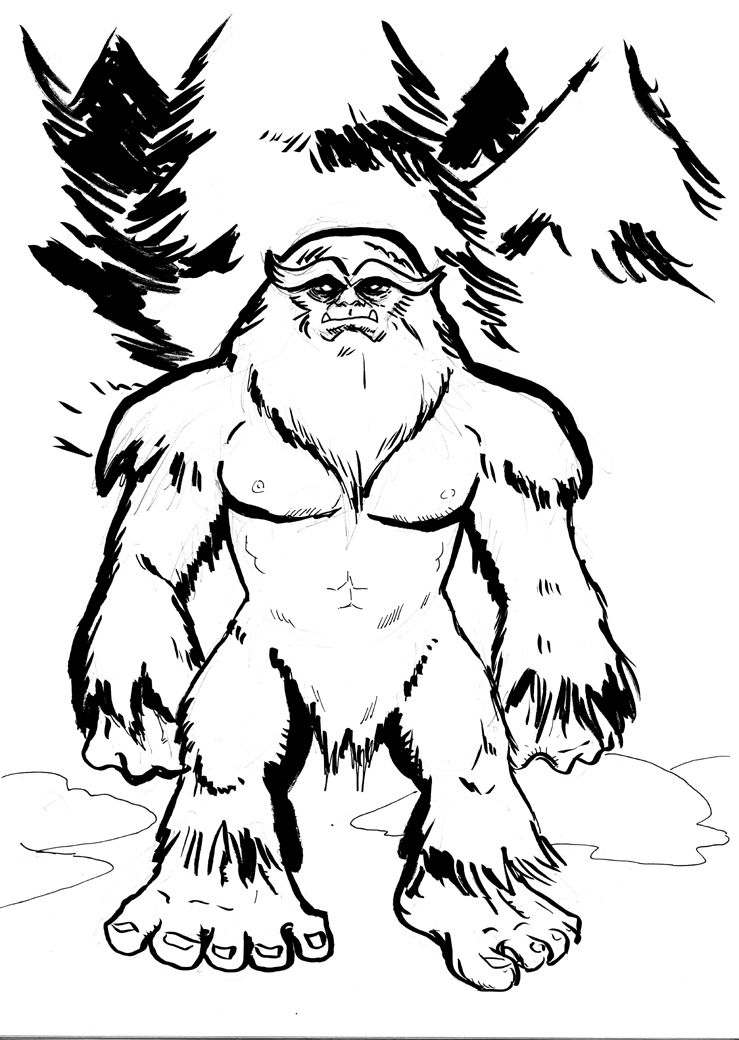 Cartoon Pics Of Bigfoot Sasquatch Drawing Sasquatch With Images