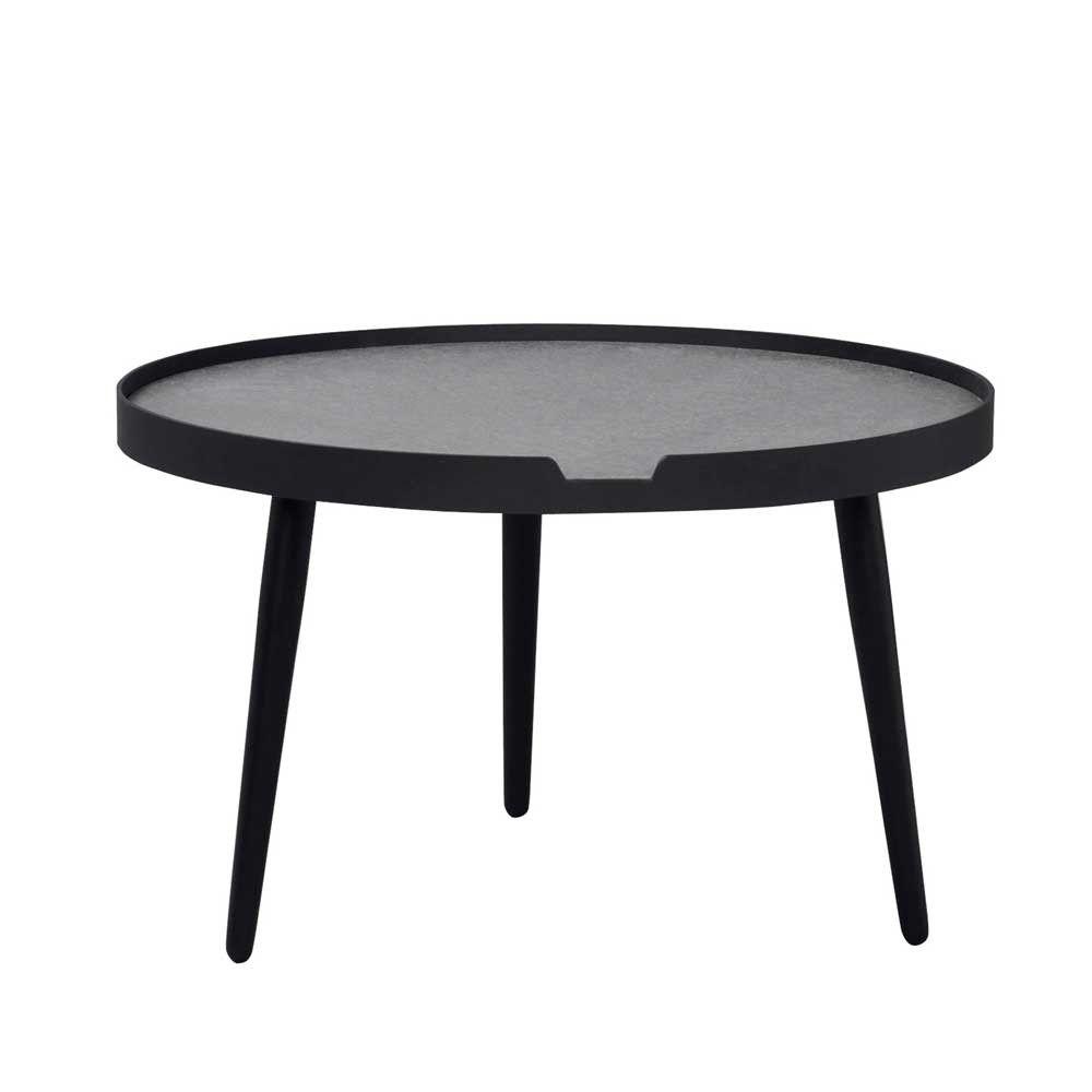 Couchtisch Dustins In Schwarz Beton Grau Rund Wohnzimmertisch Wohnzimmertische Tisch
