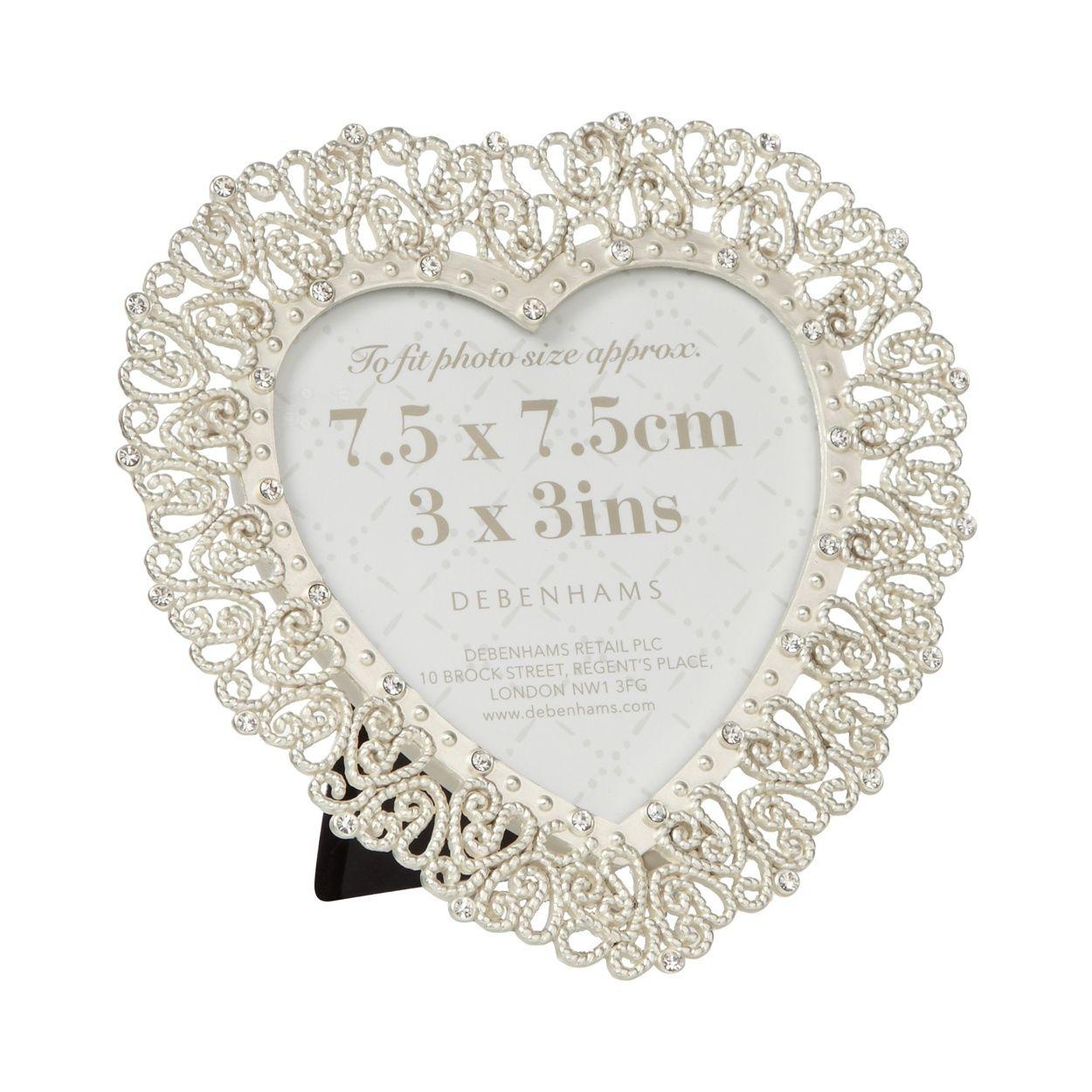 Debenhams Silver diamante heart photo frame- at Debenhams.com   Home ...