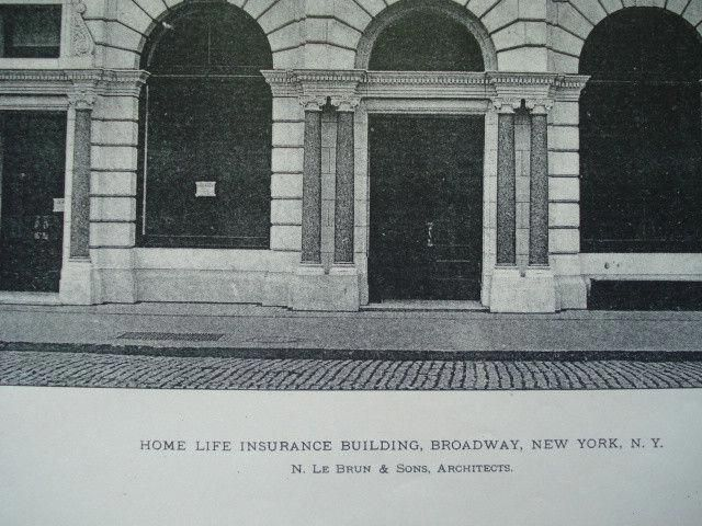 Home Life Insurance Building, Broadway , New York, NY ...
