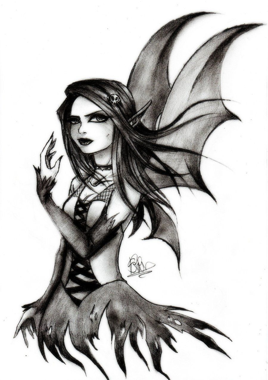 Easy Gothic Drawings : gothic, drawings, Gothic, Fairy, SoeRaven, DeviantART, Drawings,, Tattoo,, Drawings