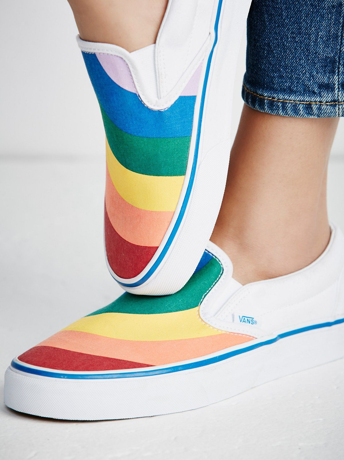 Rainbow Classic Slip On Sneaker | shoes ? in 2019 | Slip on