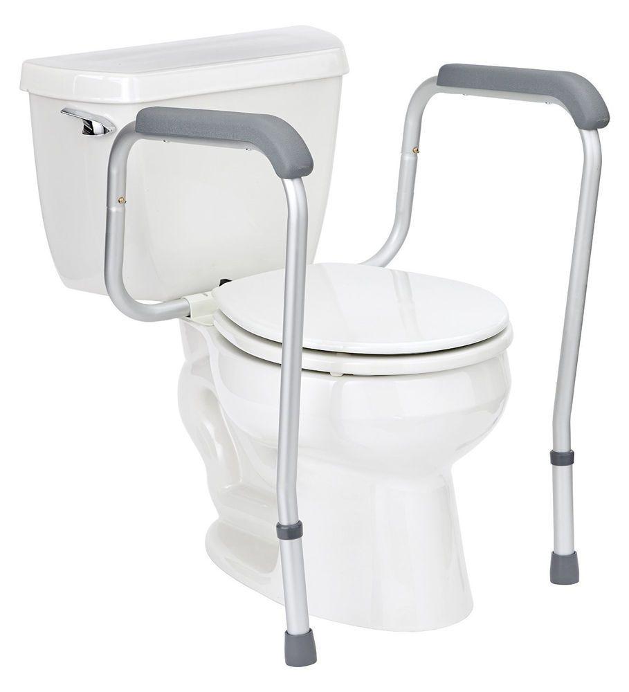Toilet Safety Rail Handicap Grab Bars Adjustable Seat Assist Elderly ...