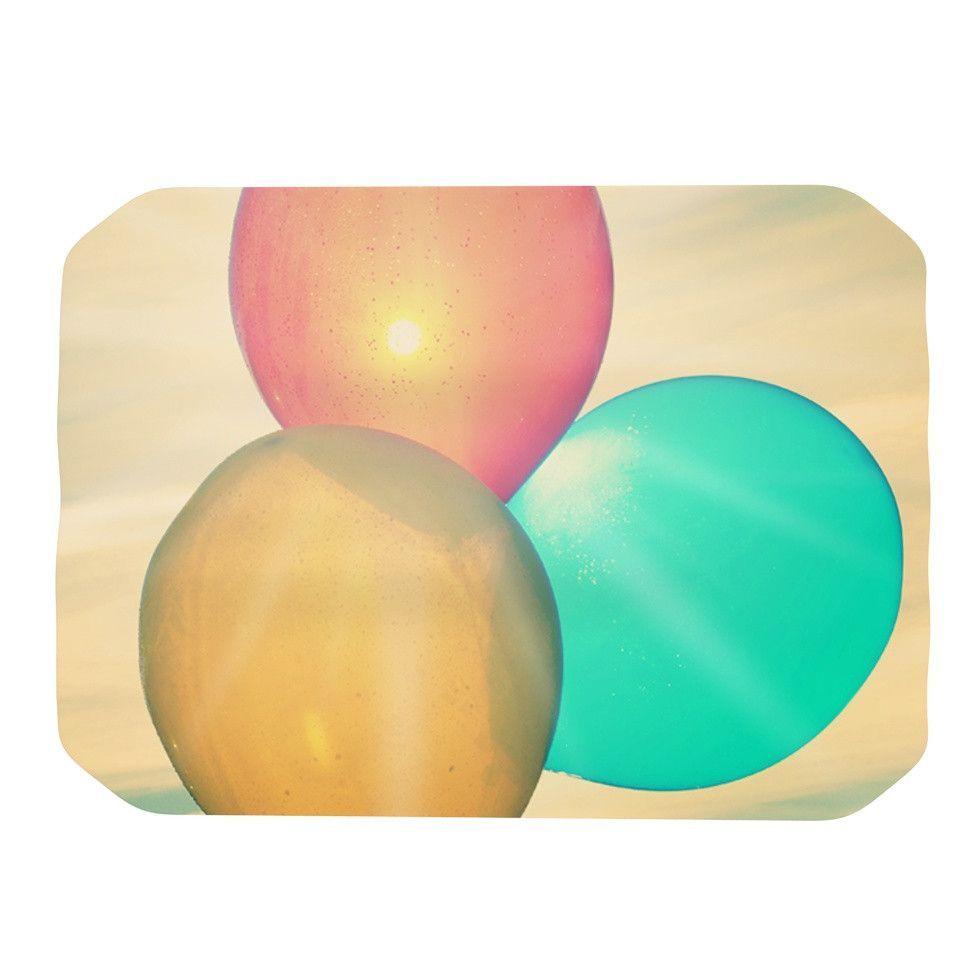 """Robin Dickinson """"Balloons"""" Tan Clouds Place Mat"""