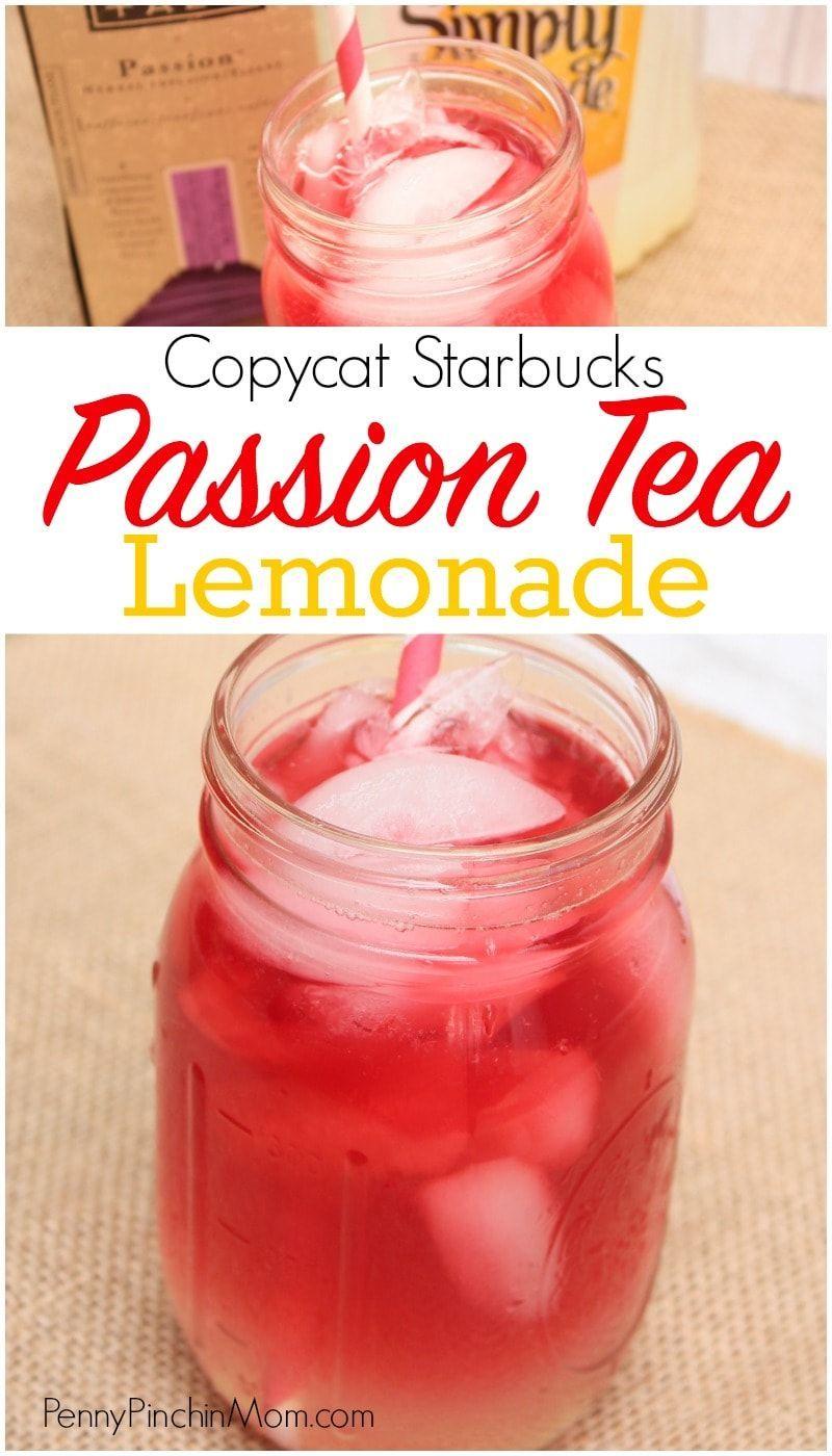 Copycat starbucks passion tea lemonade recipe passion