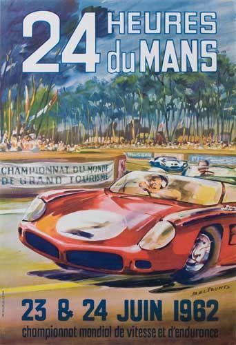 1962 24 Heures du Mans poster by Beligond Vintage Posters