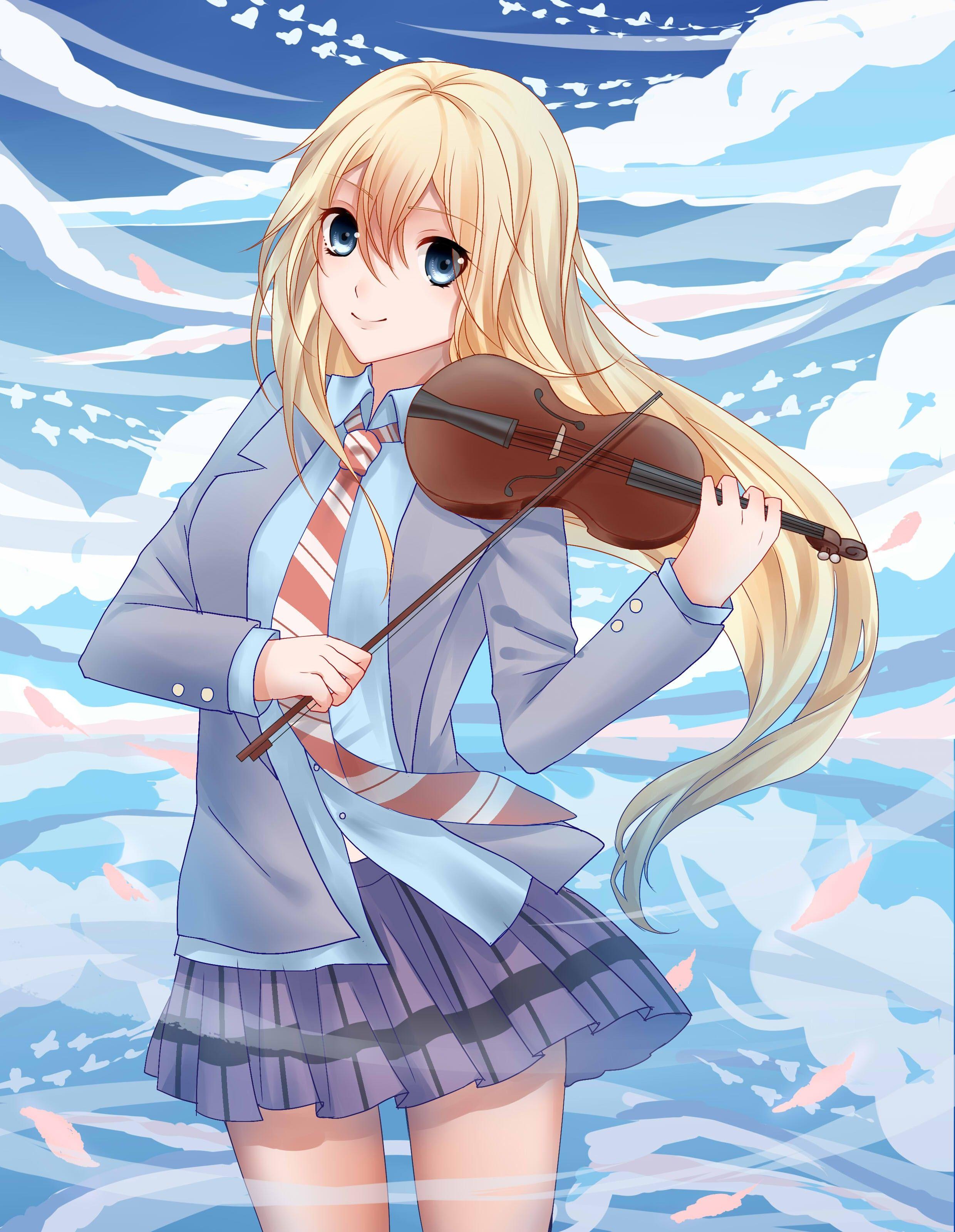 Anime 2480x3200 anime anime girls long hair blonde blue