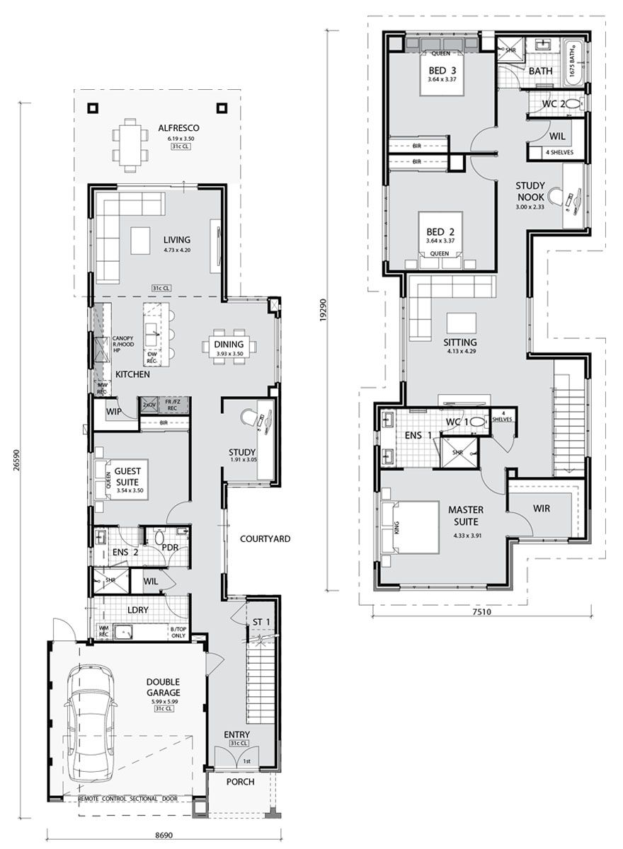 Master Bedroom Upstairs Floor Plans
