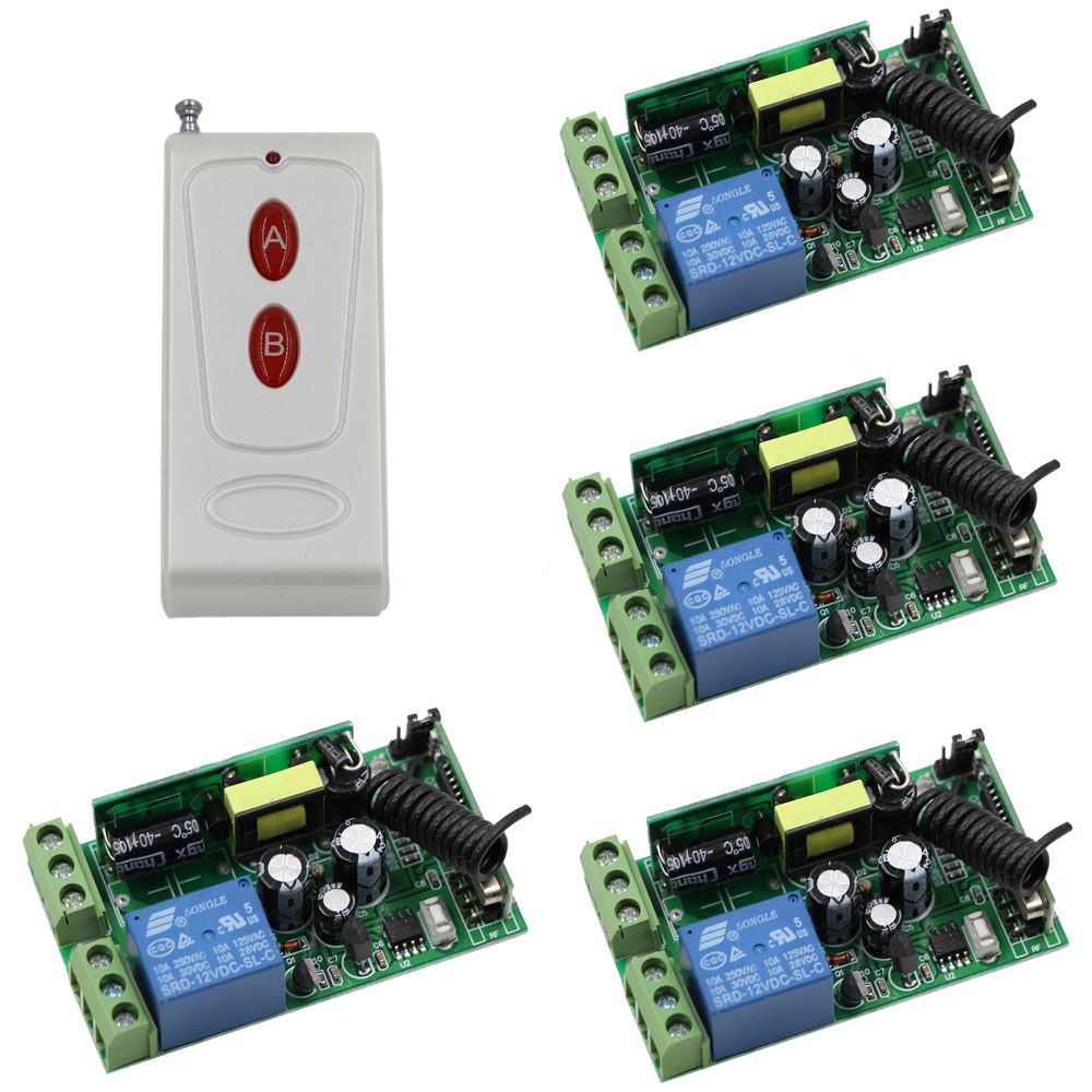 Remote Control Switch 110v Kedsumr Wireless 1 Way On Off Digital For Ac Relay Light System 1000x1000