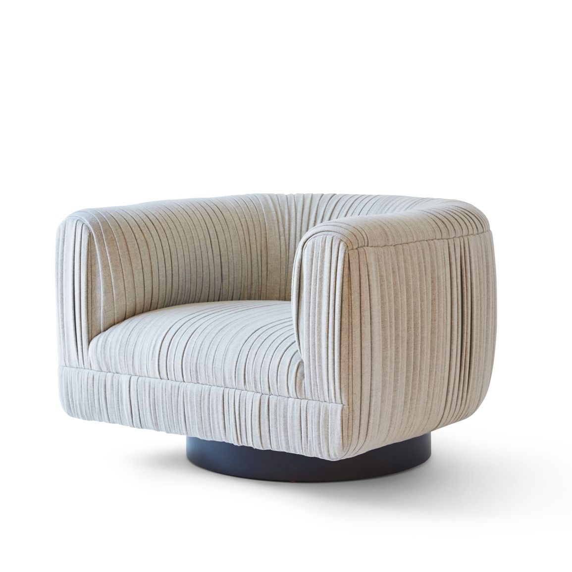 Captivating Buy MAIA RUCHED SWIVEL ARMCHAIR By Kimberly Denman   Made To Order Designer  Furniture