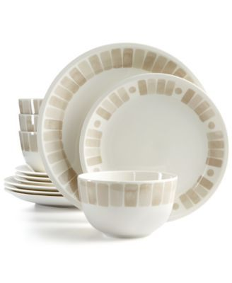 Martha Stewart Collection Heirloom 12-Pc. Dinnerware Set in Gray | macys.com | Alterra | Pinterest | Martha stewart Dinnerware and Grey dinnerware  sc 1 st  Pinterest & Martha Stewart Collection Heirloom 12-Pc. Dinnerware Set in Gray ...