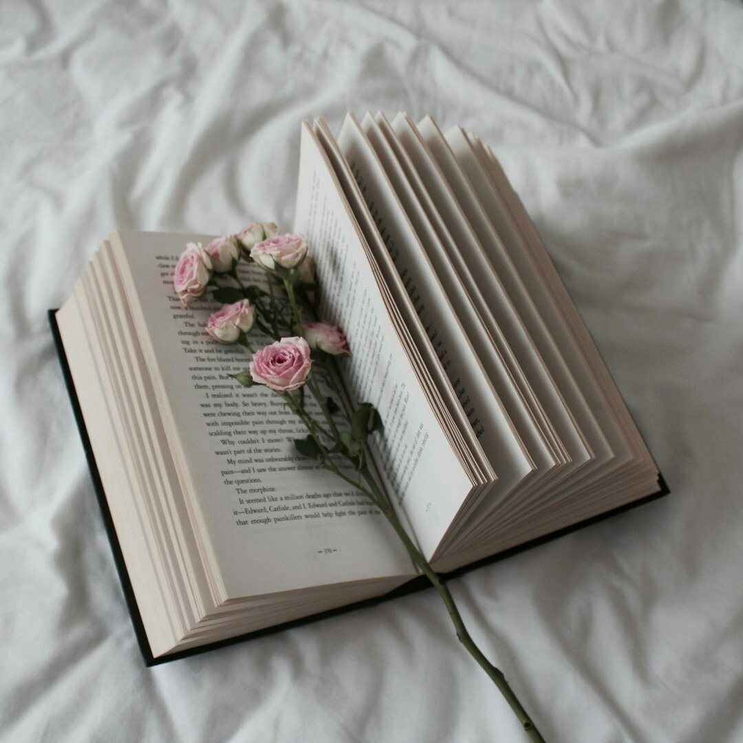 Book Flowers And Bed Image Bookstagram Inspiration Book Aesthetic Book Photography