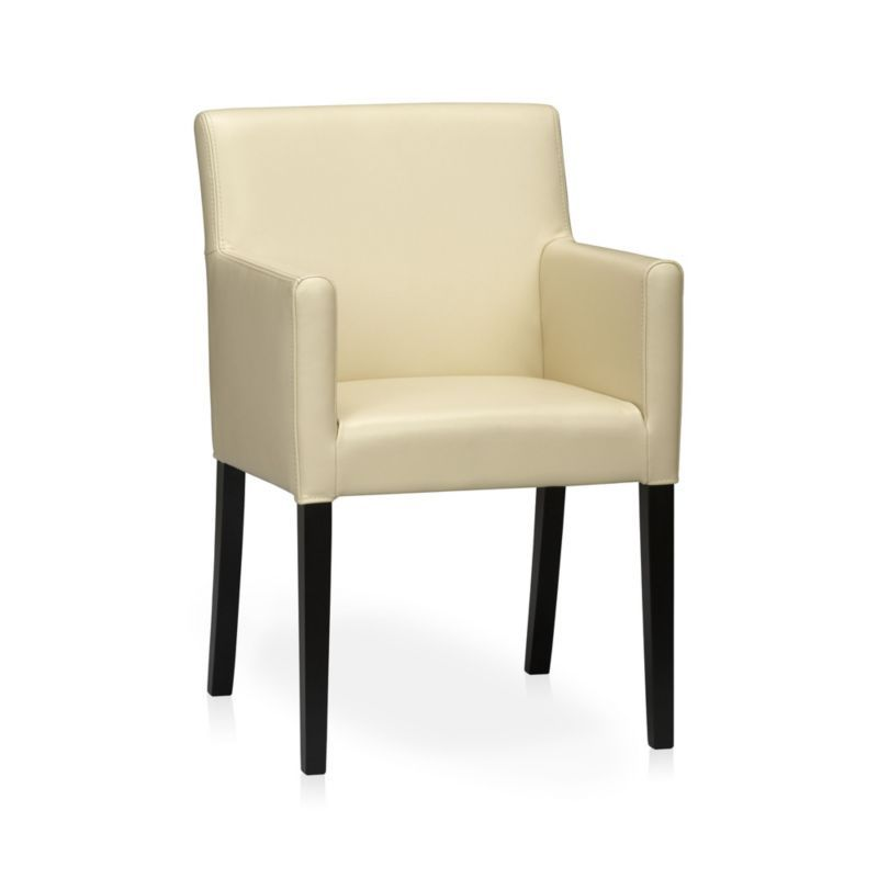 Lowe Ivory Leather Dining Arm Chair  Occasional Chairs Dining Mesmerizing Ivory Leather Dining Room Chairs Design Ideas