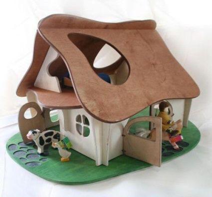Rumah Barbie Dengan Lem Aman Untuk Mainan Anak Food Grade Unik Lucu Kreatif Bingkai Kerajinan Craft Crossbond K Mainan Kayu Rumah Boneka Kerajinan Kayu