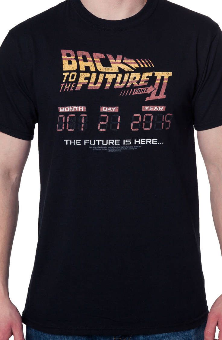 Back To The Future II Science Fiction Movie Poster Little Boys T-Shirt Tee