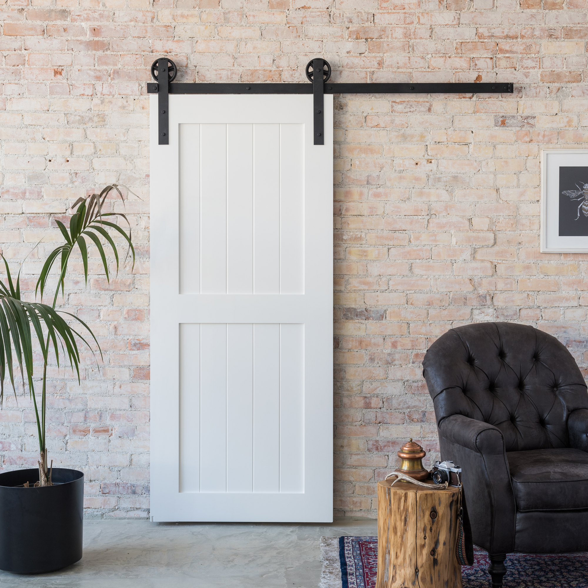 The 2 Panel Barn Door is simple and elegant The sharp edges and