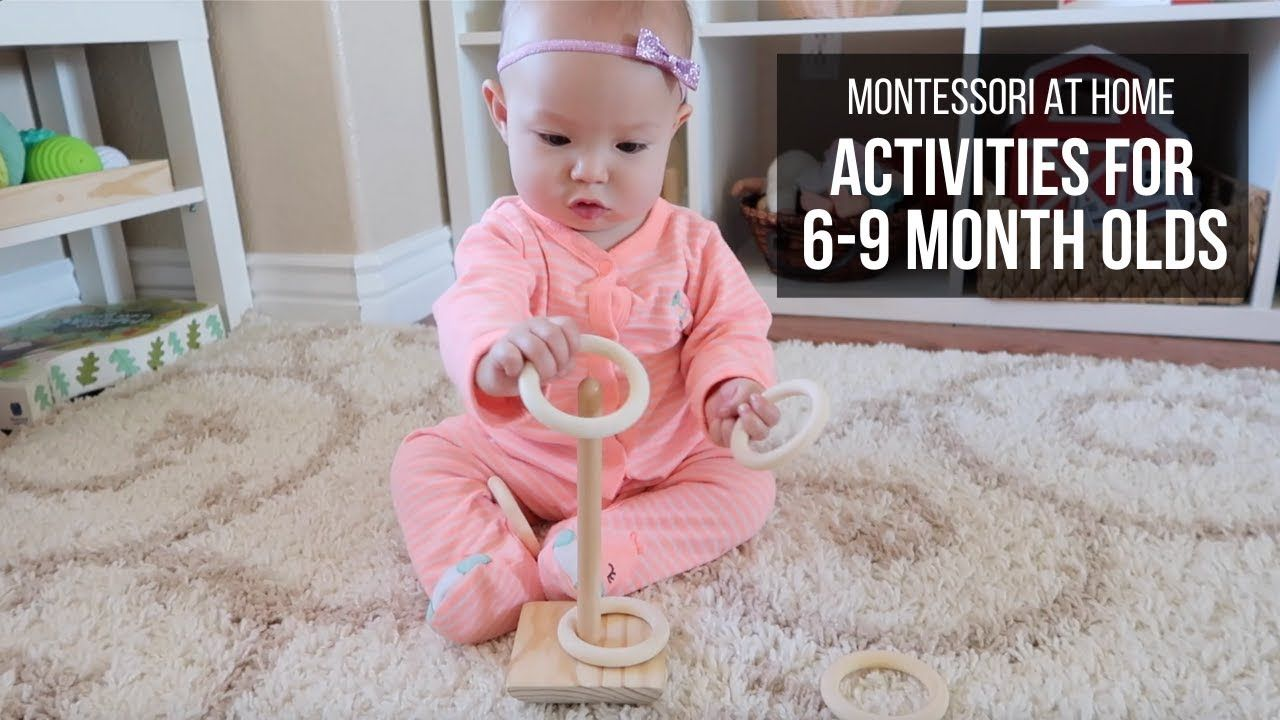 Montessori at home activities for babies 69 months