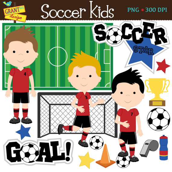 Soccer Clip Art Soccer Boys Clipart Cute Digital Clipart Personal Use Commercial Use Card Soccer Boys Clip Art Digital Clip Art